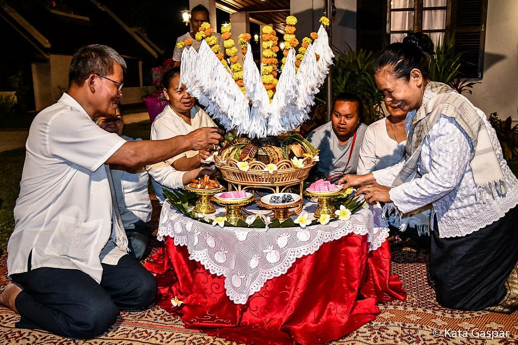 Laosz, Luang Prabang, Baci vallási rituálé