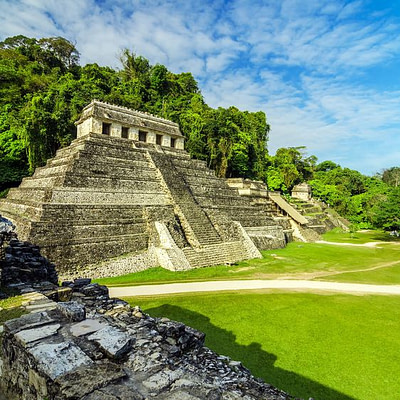19089875 - ancient mayan temples in the ruined city of palenque
